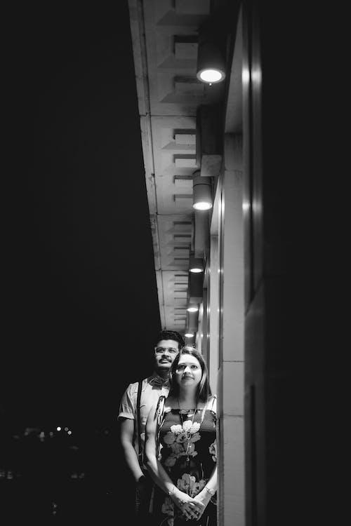 Imagine de stoc gratuită din alb-negru, cuplu, dragoste, drum