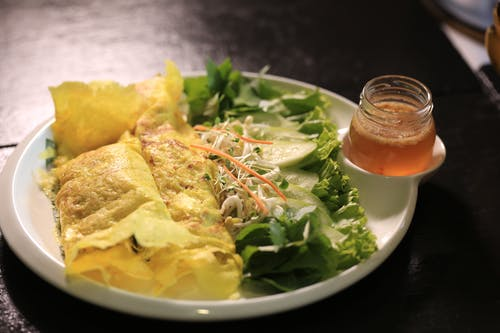 亞洲食品, 柬埔寨, 柬埔寨煎餅, 沙拉 的 免費圖庫相片