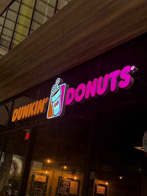 Photo of Dunkin' Donuts Neon Signage