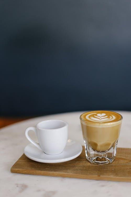 Бесплатное стоковое фото с вкусный, капучино, кофе, кофеин