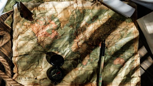 Free stock photo of ancient, hand drawing, map