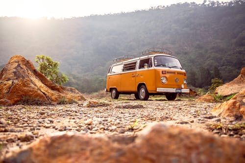Low-Angle Photo of Volkswagen Kombi