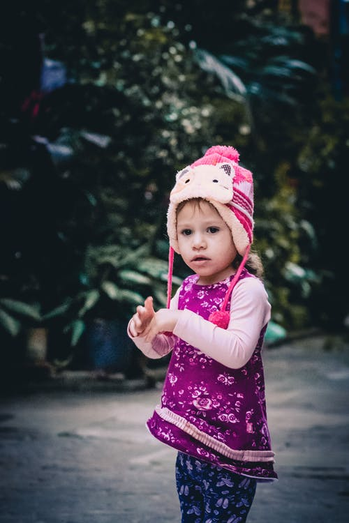 Little Girl in Pink Hat