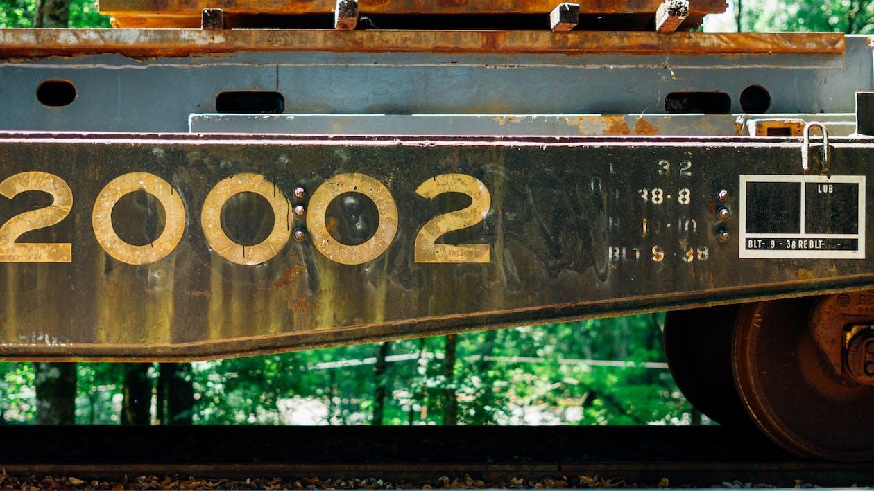 rusty train wagon