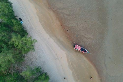 Foto d'estoc gratuïta de arbres, barca, embarcació d'aigua, paisatge