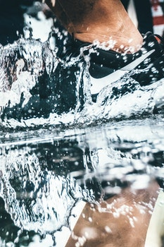 Close-up Low Section of Man in Water