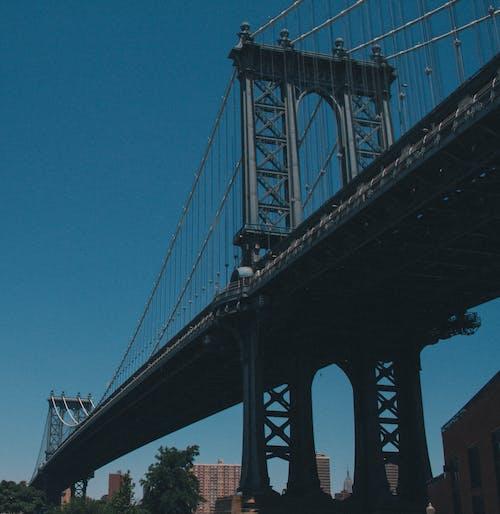 Fotobanka sbezplatnými fotkami na tému architektúra, infraštruktúra, kov, manhattanský most