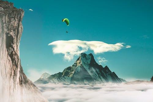 博卡拉, 在雲層之上, 滑翔傘運動員, 魚尾山 的 免費圖庫相片