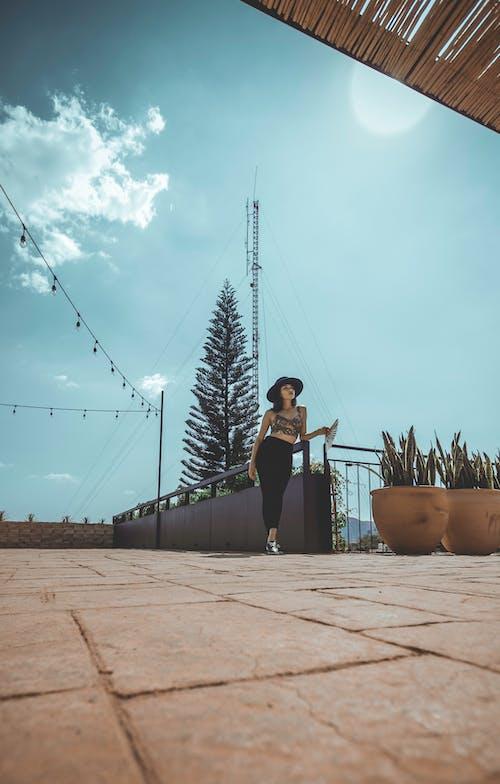 Immagine gratuita di abbigliamento casual, chiarore del sole, donna, femmina
