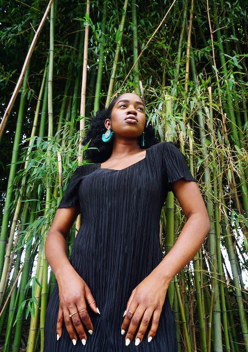 Ingyenes stockfotó afrikai nő, afro haj, afro-amerikai nő, alacsony szögű felvétel témában