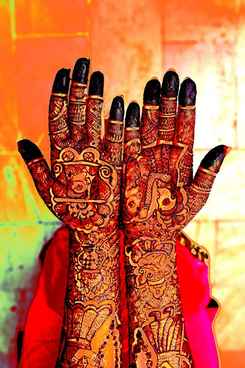 Immagine gratuita di decorazione, hennè, mani, mehendi