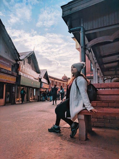 Free stock photo of india, Shimla, streetphotography, travel girl