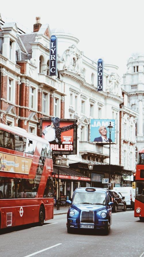 도시의 삶, 런던, 런던 라이프 스타일, 런던 택시의 무료 스톡 사진