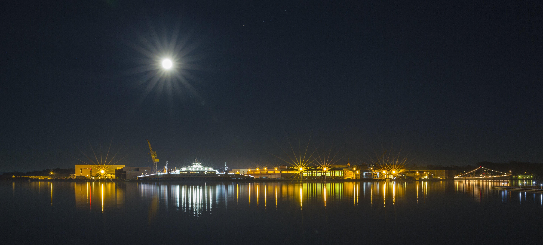 Gratis lagerfoto af færge, nat, nattehimmel