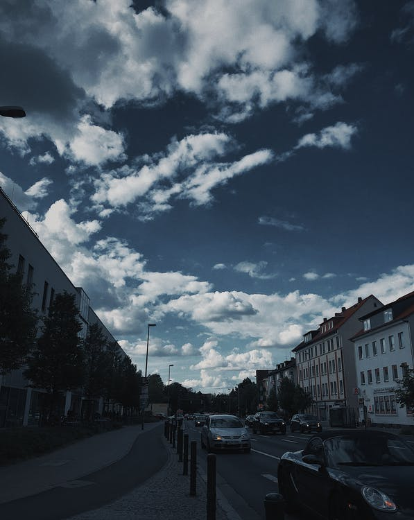 bầu trời, du lịch, đường