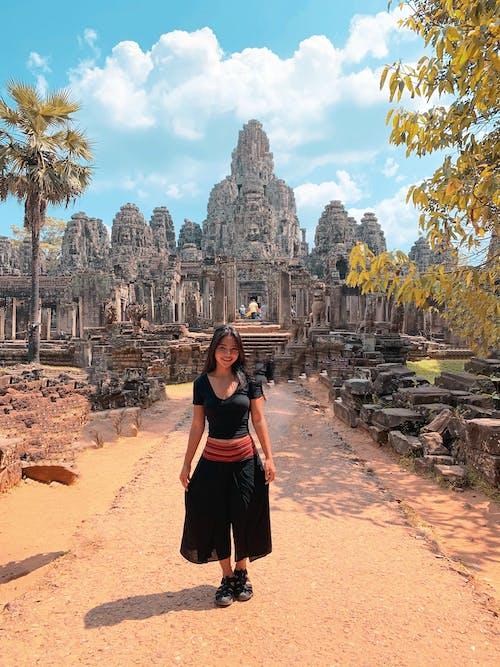 Fotobanka sbezplatnými fotkami na tému angkor wat, bohyne, cestovanie, chrám