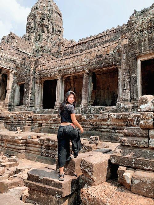 Fotobanka sbezplatnými fotkami na tému angkor wat, archeológia, architektúra, cestovanie