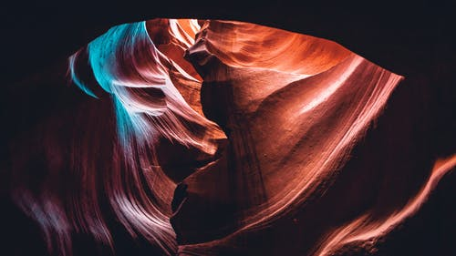 Low-Angle Photo of Antelope Canyon