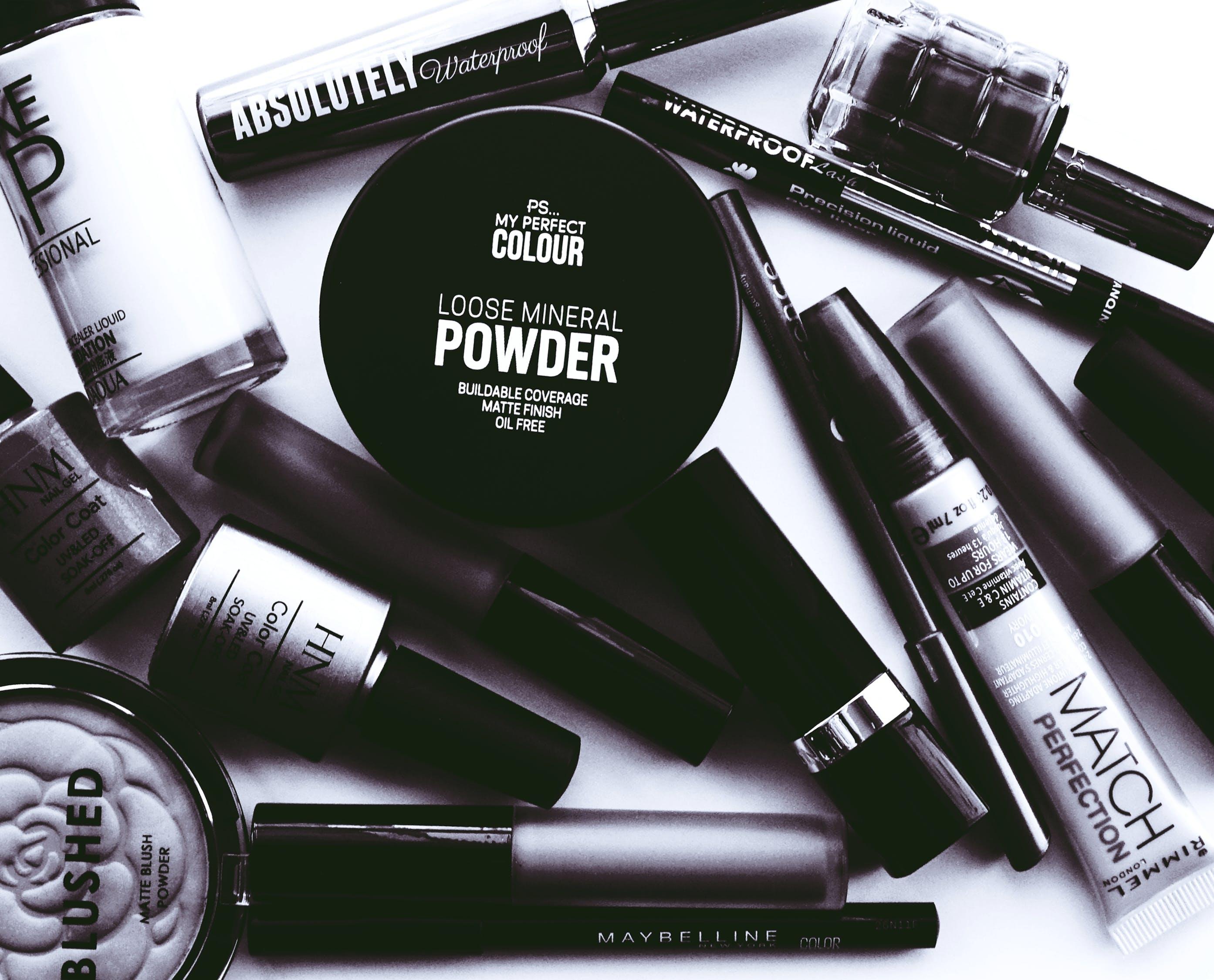 Monochrome Photo of Cosmetics