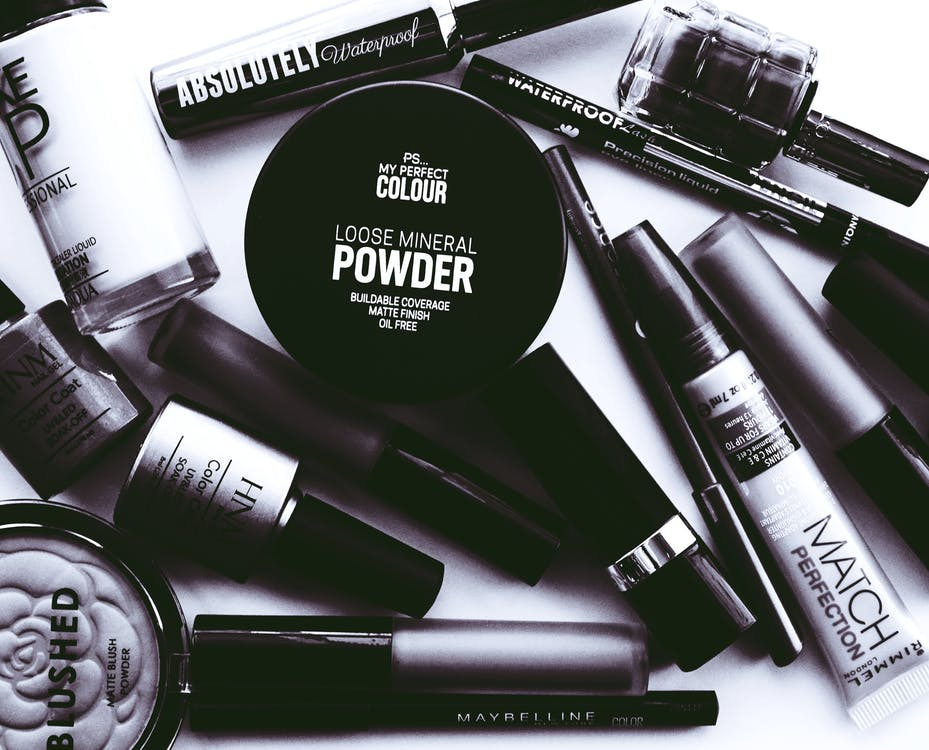 Monochrome Photo of Cosmetics