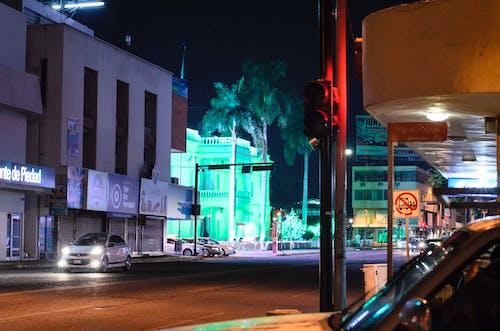 Fotos de stock gratuitas de ayuntamiento, carro, centro, Luces de noche