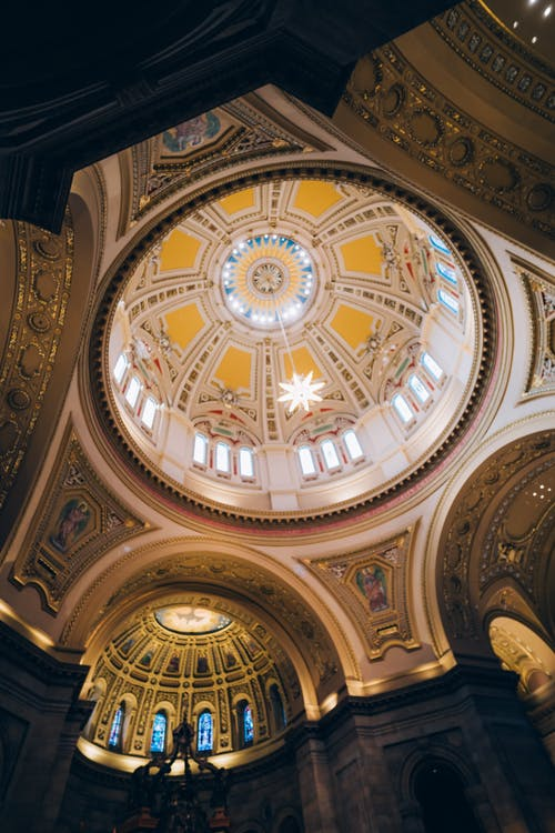 Low-Angle Photo of Church Ceiling