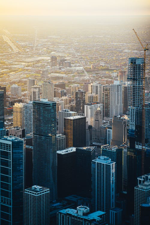 Aerial View Photo of City Buildings