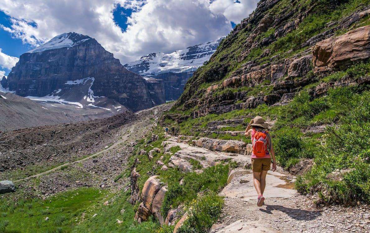 Backpacker, bjerg, bjergtinde