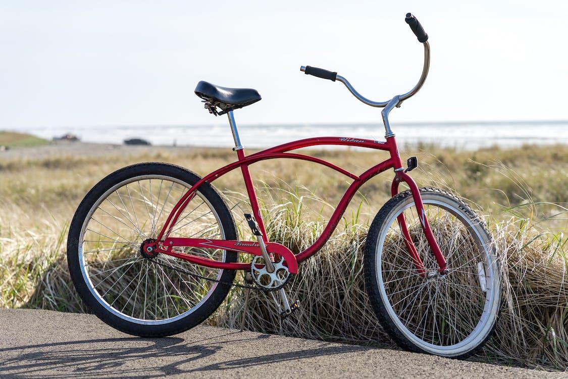 bicikli, fű, kerékpár