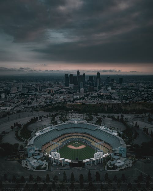 Aerial View Photography of Ballpark