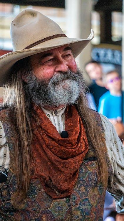 barbe, cow-boy, occidental