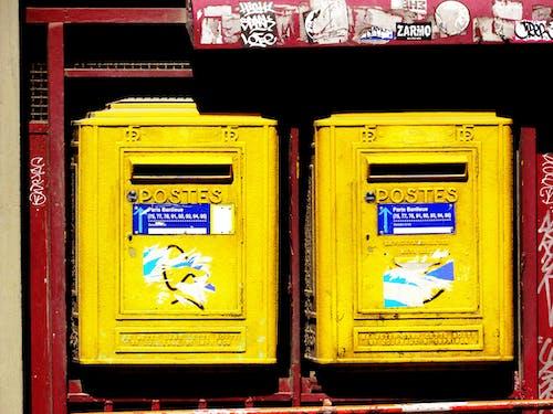 巴黎, 巴黎郵報, 巴黎郵箱, 柱子 的 免費圖庫相片