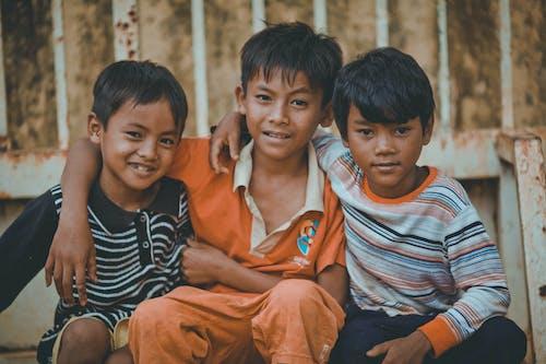 3, 友達, 子供, 男の子の無料の写真素材