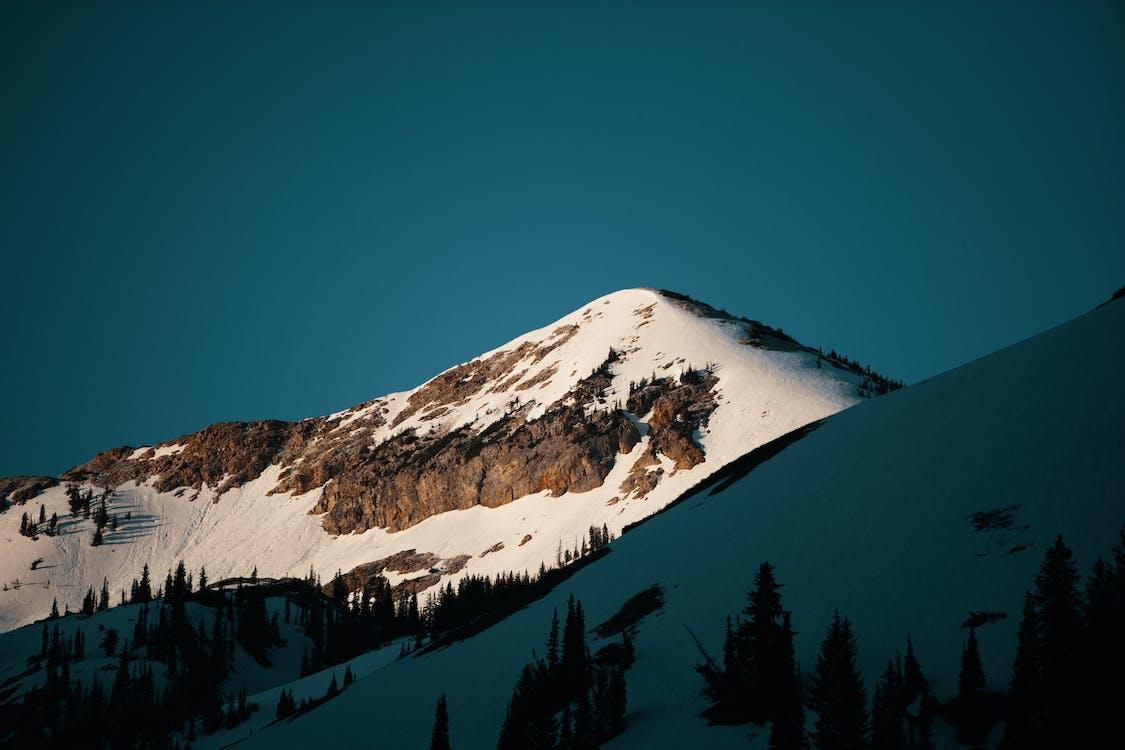 avontuur, berg, besneeuwd