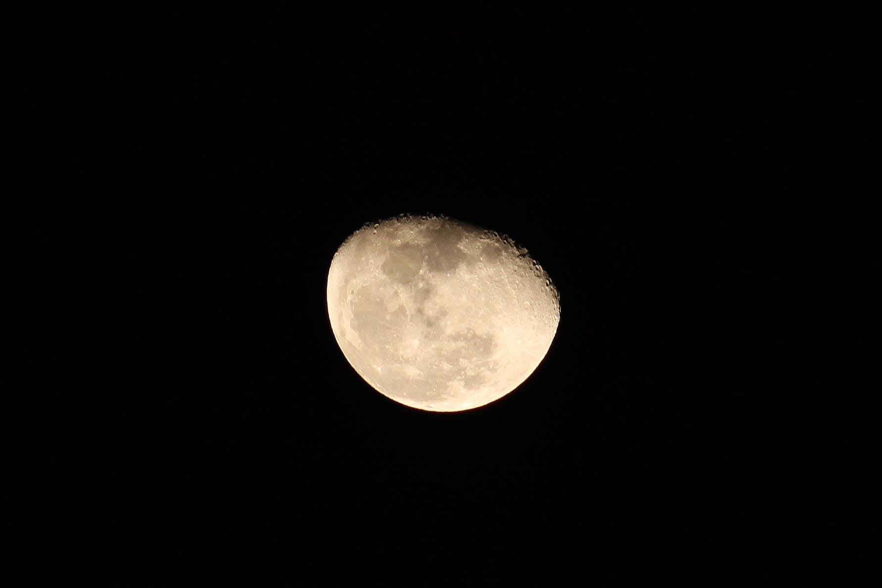Close-up of Moon in the Sky