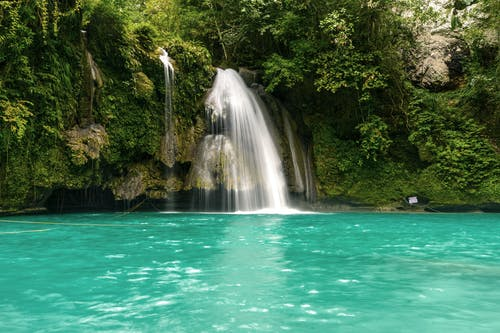 Foto stok gratis air, air terjun, alam, Batuan berlumut