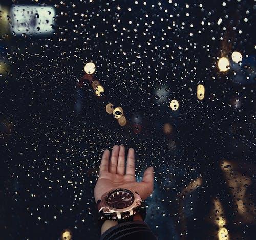 手, 數碼時鐘, 雨 的 免費圖庫相片