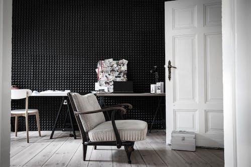 คลังภาพถ่ายฟรี ของ การออกแบบตกแต่งภายใน, ข้างใน, ขาวดำ, ชั้น
