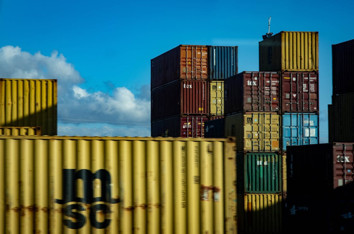 Assorted-color Intermodal Containers