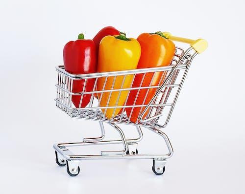 Immagine gratuita di carrello della spesa, cibo, cucinando, mangiando sano
