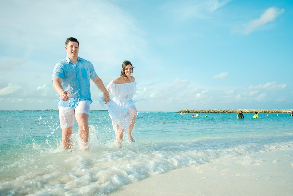 берег моря, веселий, відпустка