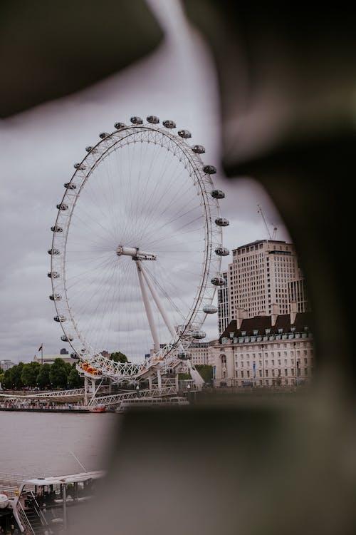 Foto d'estoc gratuïta de atracció, ciutat, Parc d'atraccions, roda