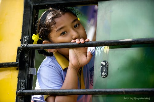 Portrait of Girl Playing in Playground