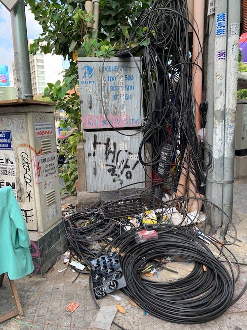 ベトナム, ホーチミン市, 乱雑な通り, 通りの無料の写真素材