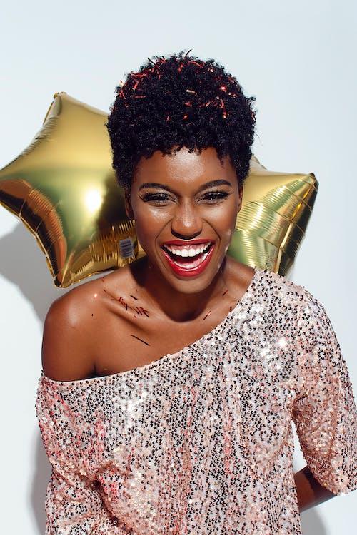 afroamerykanka, afrykańska kobieta, balony