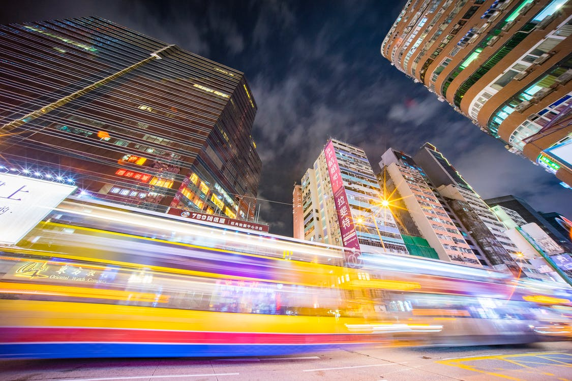 Time-lapse Photography of Road Near Buildings