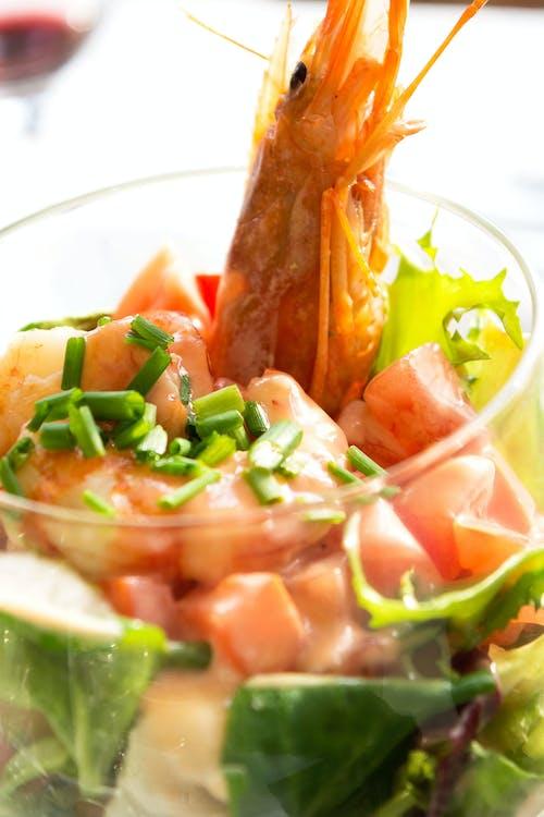 Ingyenes stockfotó Garnélarák, saláta témában