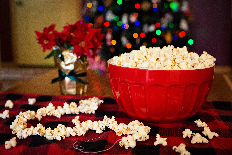 Kostenloses Stock Foto zu essen, popcorn, schüssel, weihnachten