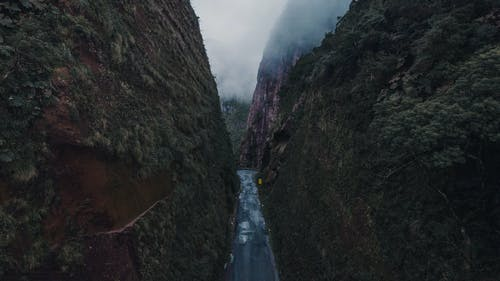 Photo of Empty Road in Narrow Gorge