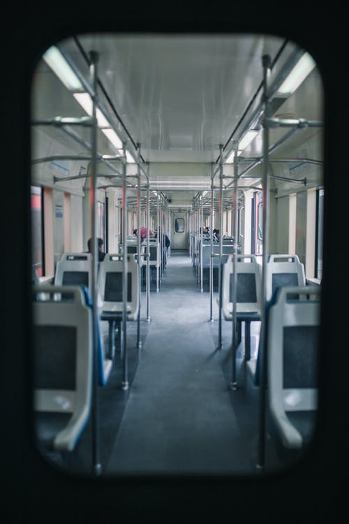 Grey and White train Interior